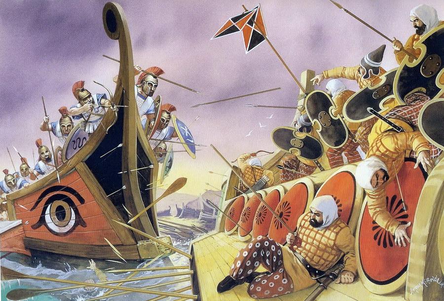 Batalla de Salamina - Curiosidades de la Historia