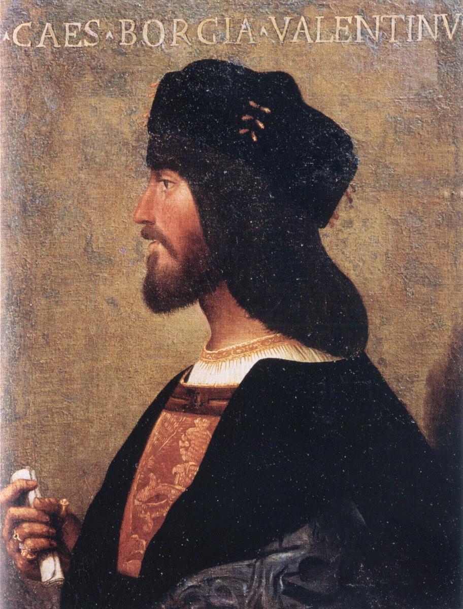 Cesar Borgia, los hijos del papa Rodrigo Borgia