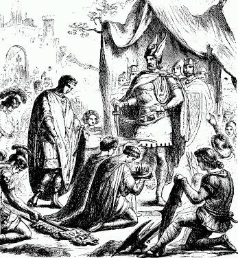 Rómulo entrega el Imperio a Odoacro