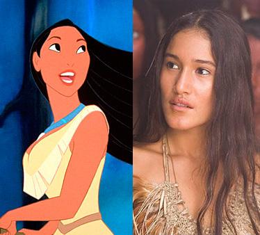 """""""Pocahontas""""de Walt Disney o """"El nuevo mundo"""", dos películas de la historia de Pocahontas."""
