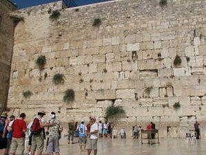 Muro de las lamentaciones en Jerusalem