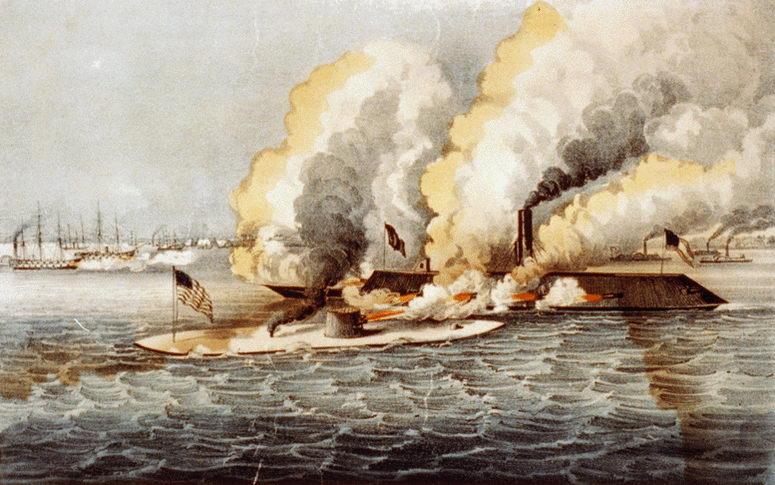 La primera batalla naval entre acorazados