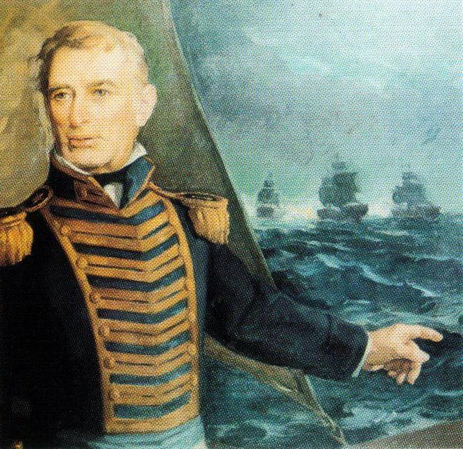 """Estas históricas palabras fueron pronunciadas por el almirante irlandés Guillermo Brown, al mando de la escuadra Argentina en su enfrentamiento contra una superior armada brasileña en el Combate Naval de """"Los Pozos"""", englobado dentro de la llamada 'Guerra del Brasil'."""