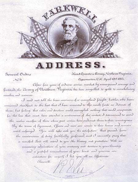 La despedida de Robert E. Lee - Curiosidades de la Historia