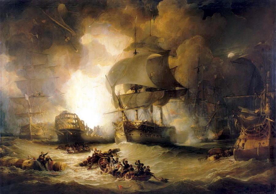 La explosión navío insignia de Napoleón en Egipto - Curiosidades de la Historia