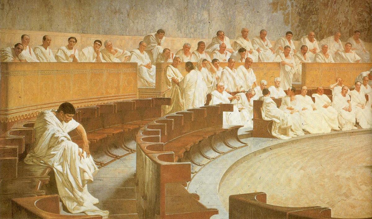Cicerón en el Senado Romano - Curiosidades de la Historia
