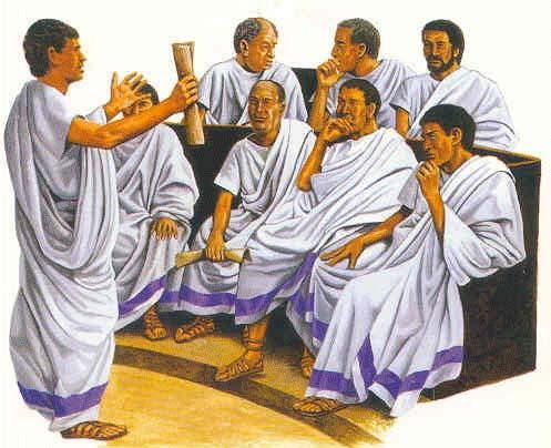 Senadores romanos - Curiosidades de la Historia
