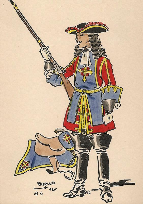 mosquetero de la guardia - Curiosidades de la Historia