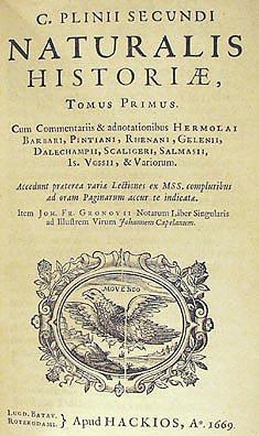 Historia Natural de Plinio el viejo - Curiosidades de la Historia