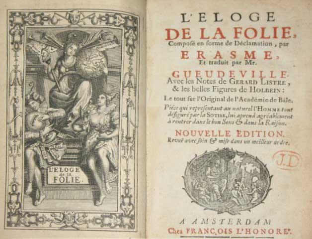 Elogio de Erasmo de Roterdam - Curiosidades de la Historia