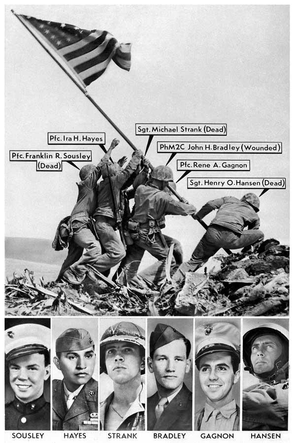 foto bandera de iwo Jima - curiosidades de la historia