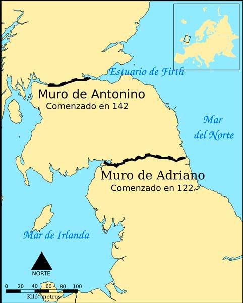 Muro de Adriano Muro de Antonino
