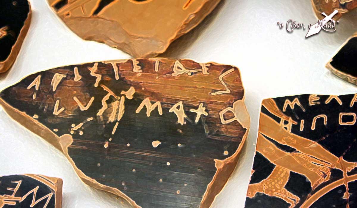 ostracismo griego - Curiosidades de la historia