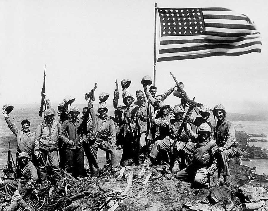 segunda foto bandera de iwo Jima - curiosidades de la historia