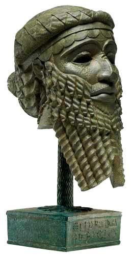 mascara de Sargon I de acad acadios