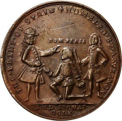 medalla conmemorativa blas de lezo Vernon