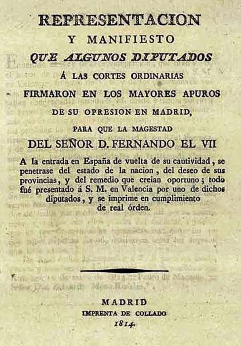 manifiesto de los persas 1814