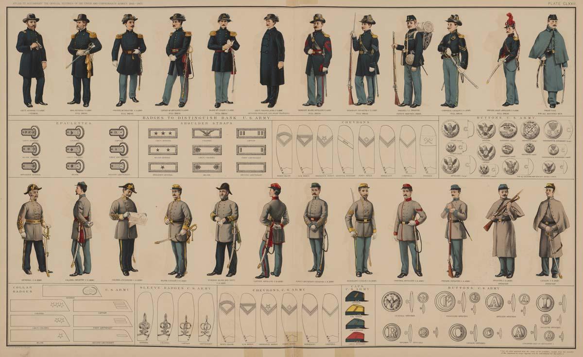 uniformes de la guerra de secesion americana