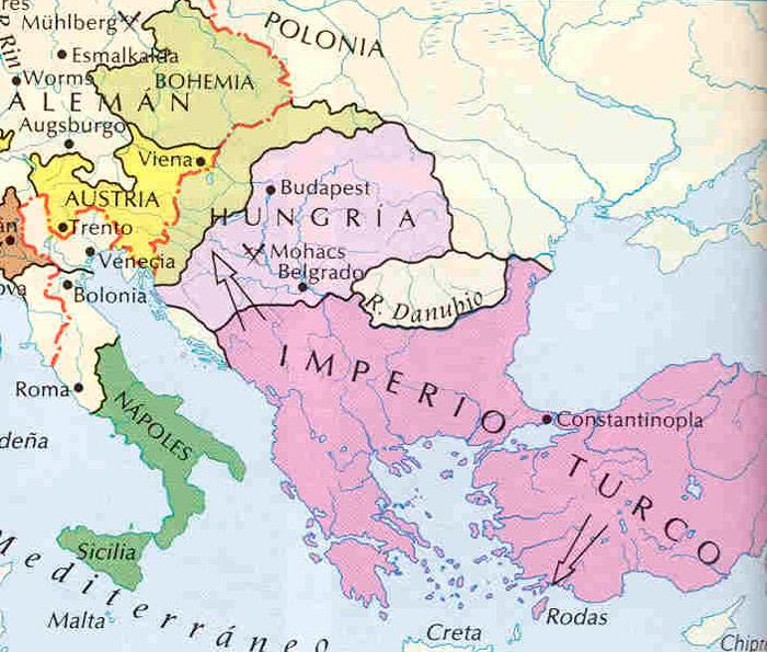 mapa imperio otomano soliman el magnifico