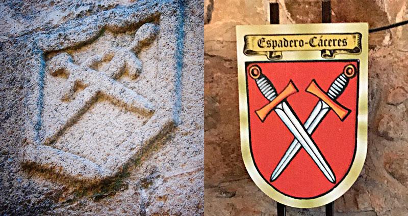 Escudo de la orden de los caballeros Fratres en Cáceres.