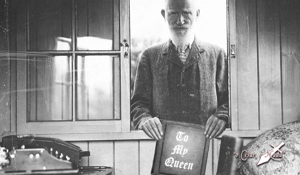 El zasca de Bernard Shaw a la reina de Inglaterra