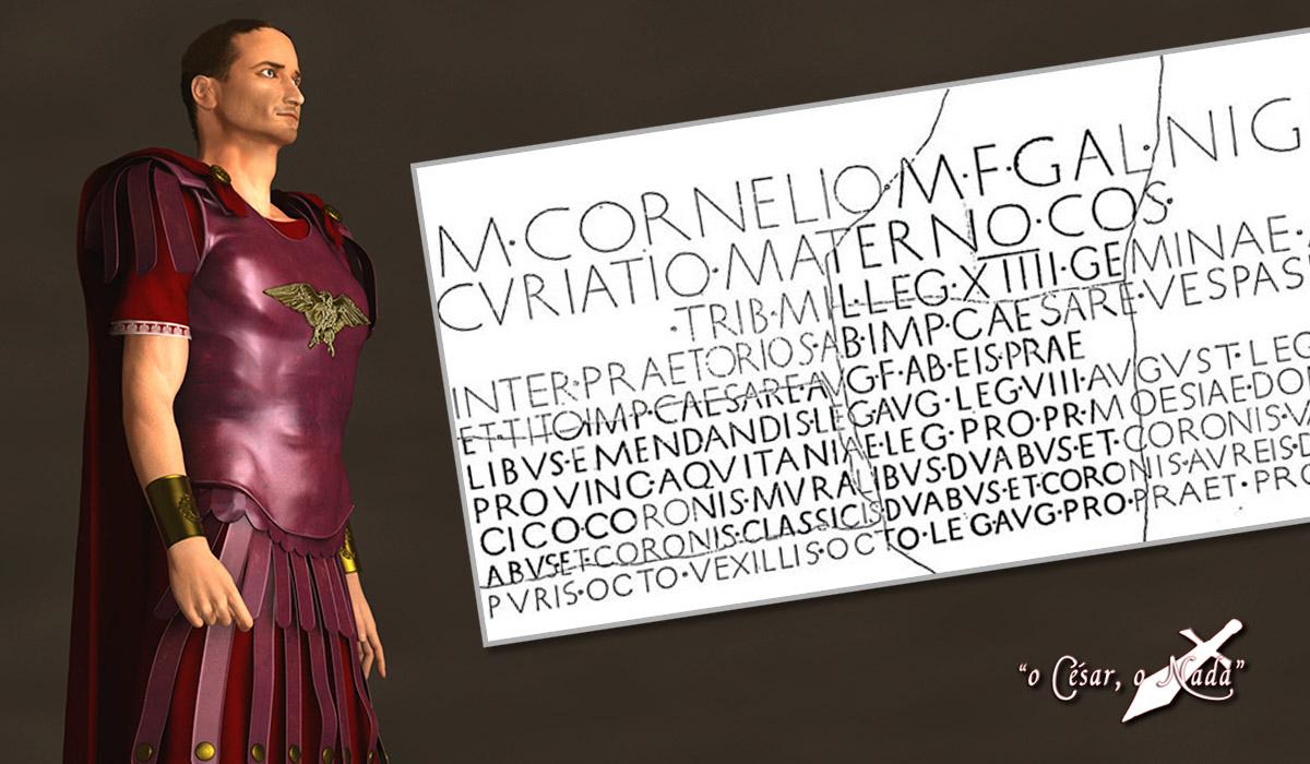 Marco Cornelius Nigrinus Curiatus Maternus