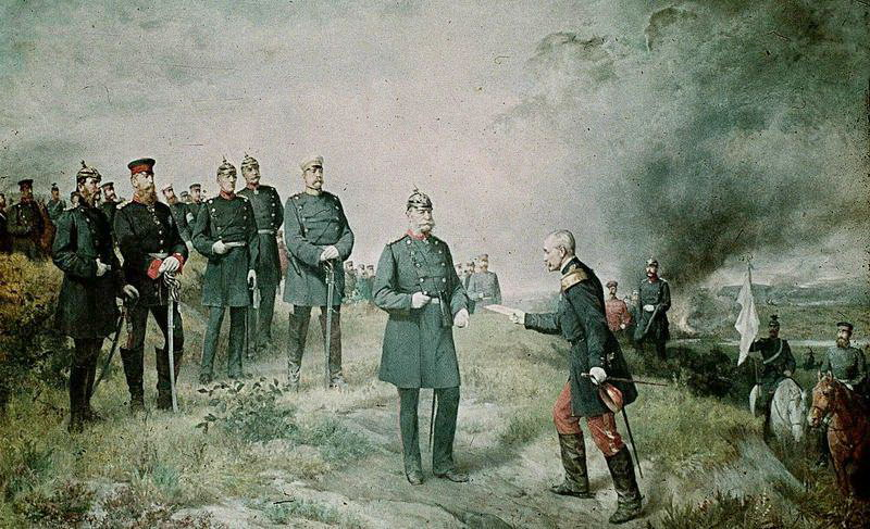 La batalla de Sedan Napoleón III