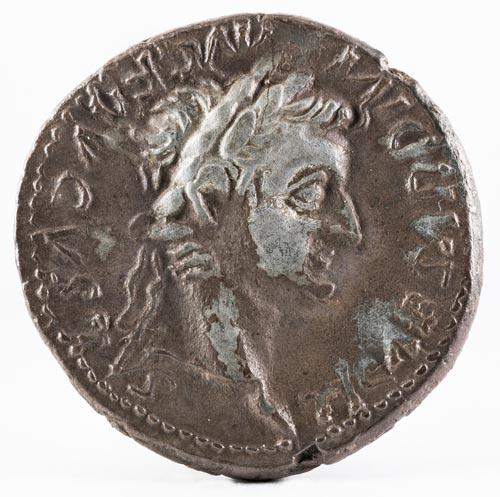 denario romano tiberio