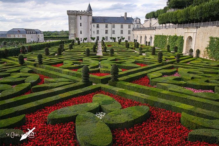jardin medieval castillo de Villandry