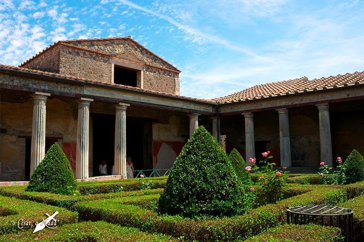 jardin romano Pompeya