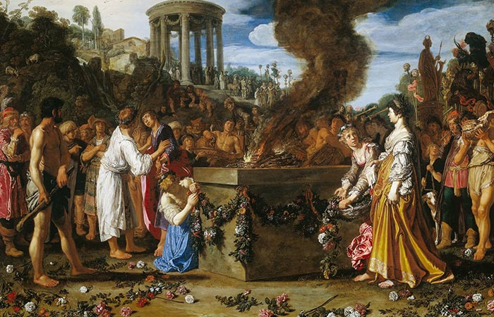 sacrificio de virgenes Pieter Lastman