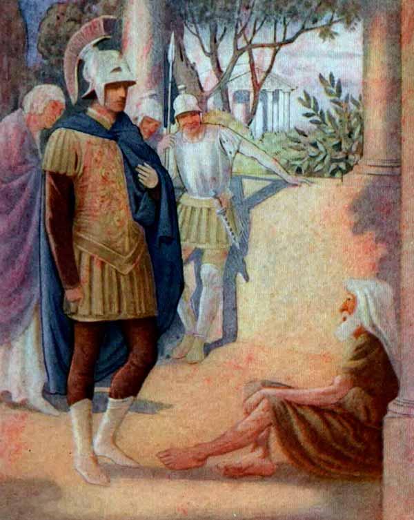Alejandro Magno y Diogenes