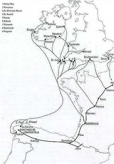 mapa camino ingles