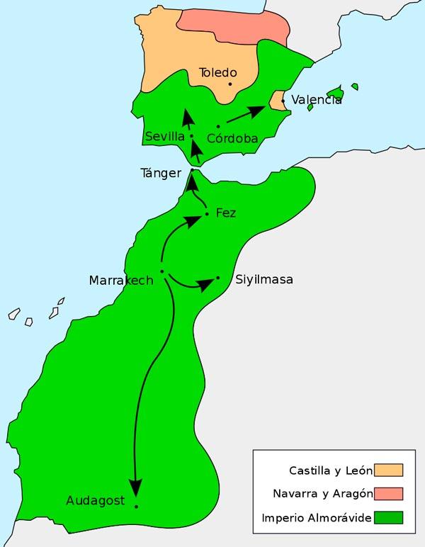 mapa imperio almoravide