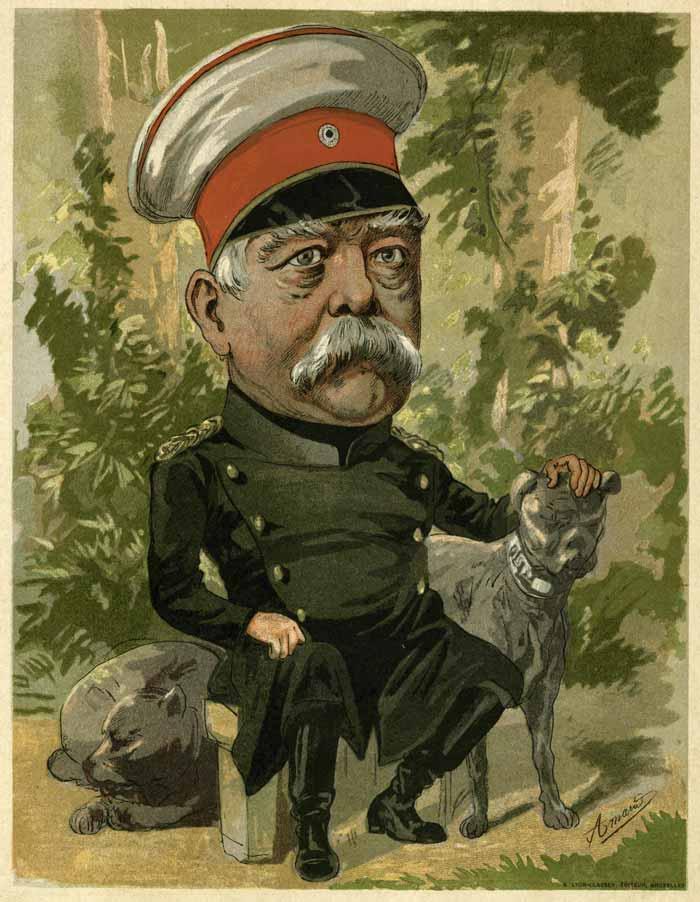caricatura de bismarck