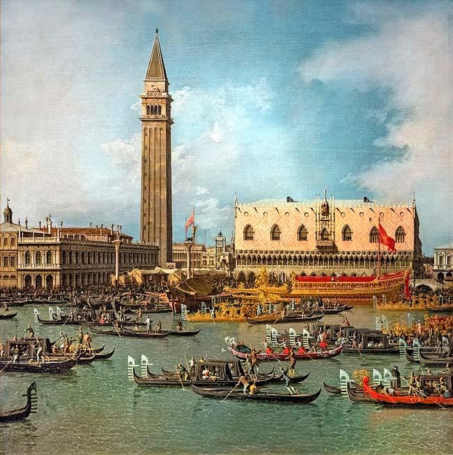 día de la Ascensión de Canaletto