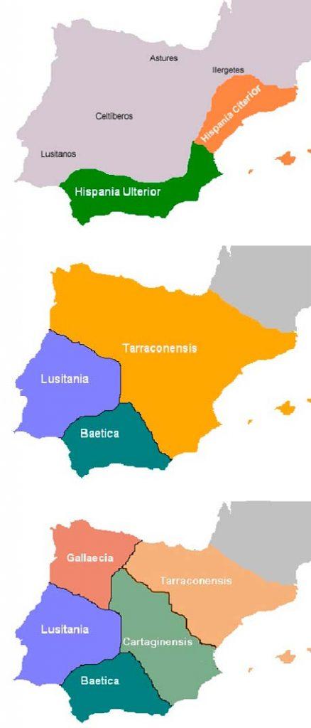 division provincias hispania romana