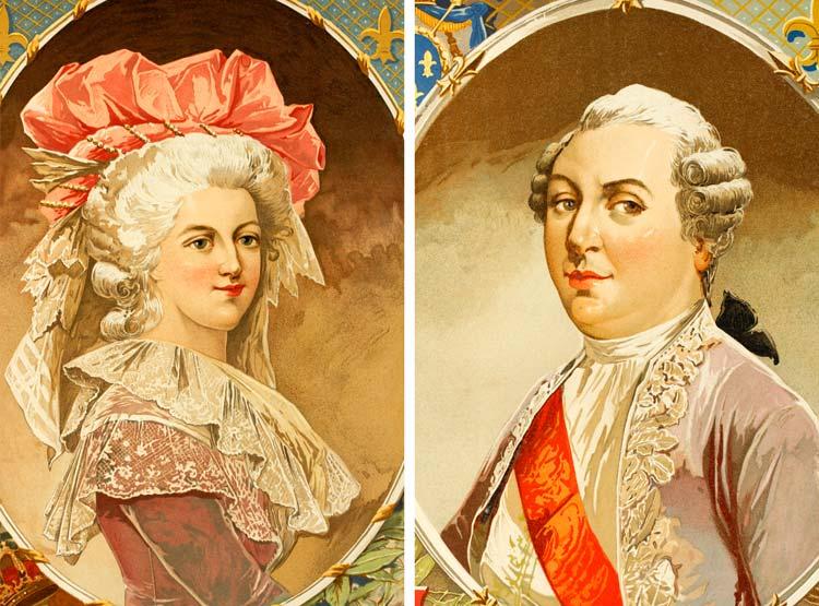 María Antonieta y Luis XVI