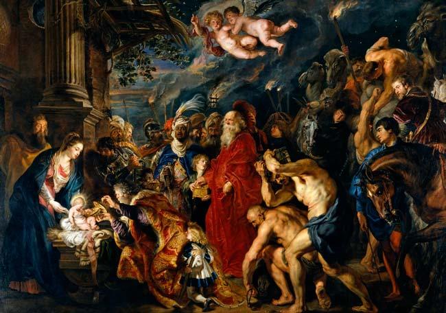 Adoracion de los reyes magos Rubens