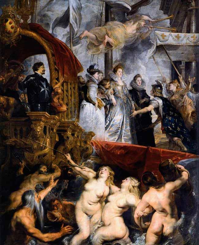 Desembarco de María de Medicis Rubens