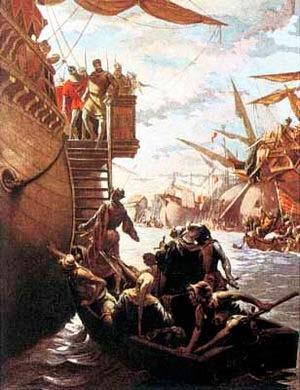roger de lauria captura Carlos de Salerno