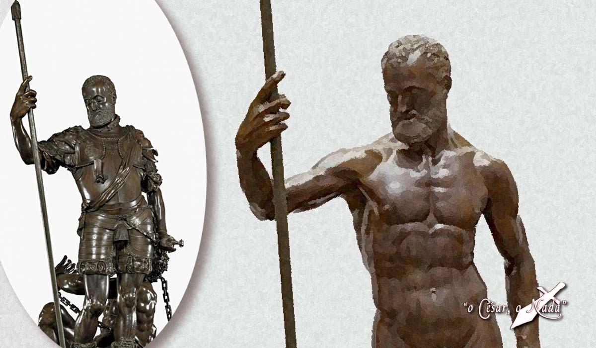 escultura desnudo carlos v