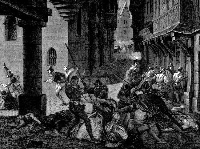 matanza de san bartolome guerras de religión