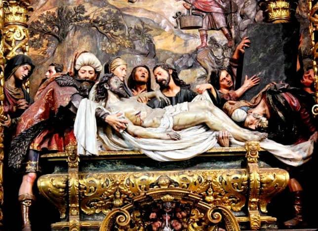 santo entierro retablo mayor del hospital de la caridad pedro de roldan